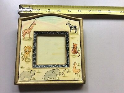 Vtg Safari Animals Picture Frame: Made in India