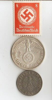 -WWII - *german  and  *US   coins  and  stamps