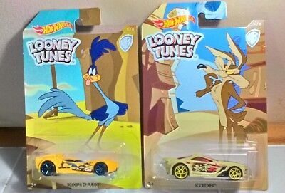Hot Wheels Looney Tunes. Road Runner & Wile E. Coyote. 2009 New In Boxes Mint