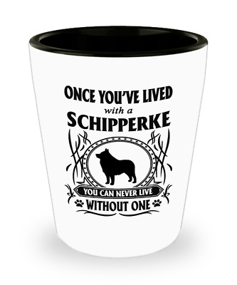 Schipperke Dog,Spitzke,Spits,Spitske,Schipperkes,Schipperkes Dog, Shot Glass