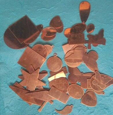 50 Assorted Copper Blanks For Jewellery, Enamelling & Crafts
