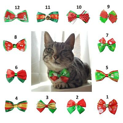 Small Dog Cat Pet Christmas Styles Bow Tie Necktie suitable for small dog or cat
