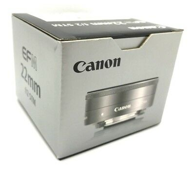 New Canon EF-M 22mm f/2 STM SILVER Lens for EOS-M Mirrorless Digital Cameras