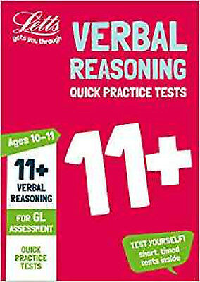 11+ Verbal Reasoning Quick Practice Tests Age 10-11 for the GL Assessment tests