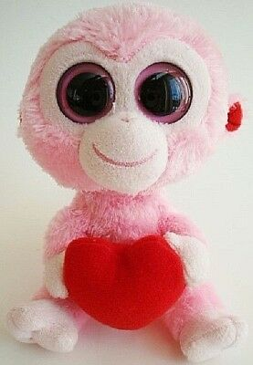 4355c64be39 Ty Beanie Boo Boos Julep the Pink Monkey Chimp with heart 6