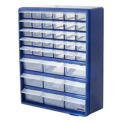 39 Drawer Blue Multi Tools DIY Storage Cabinet Organiser Box Storing Nuts Bolts