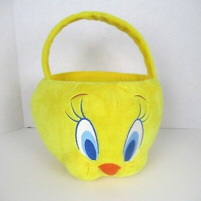Looney Tunes Tweety Plush Halloween Bucket Candy Toe Warner Brothers