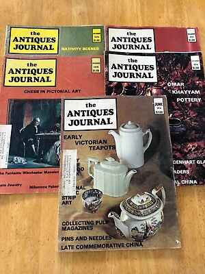 1970's - The Antiques Journal Magazine - Lot of 5