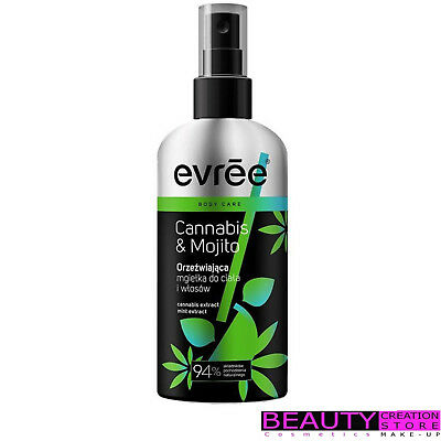 EVREE Refreshing Mist For Body And Hair CANNABIS & MOJITO 100ml ER022