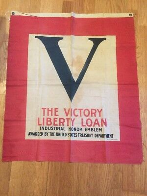 Ww2 Rare Victory War Bonds Banner Displayable