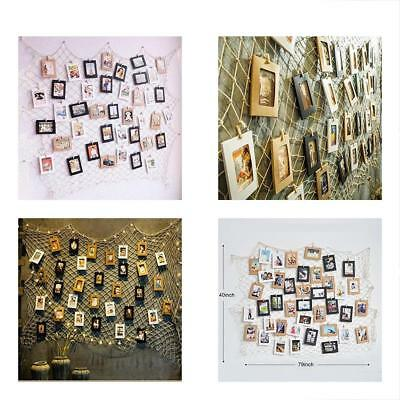 Photo Hanging Display Fish Net Wall Decorations Picture Frames Multi Photos Orga