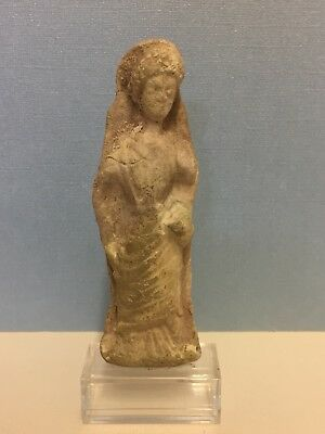 """Parthian Terracotta Figure Of A Young Female 1st Century A.D. Persia 4.5"""" H"""