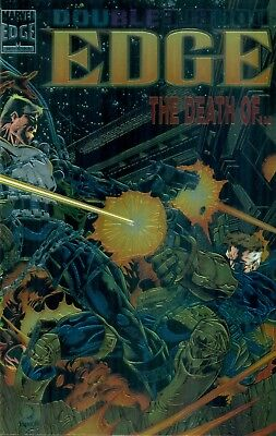 Double Edge Omega #1 Punisher Daredevil Ghost Rider Fury Chromium Cover NMM 1995