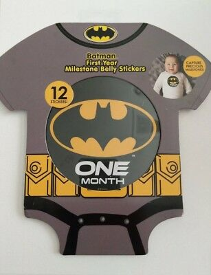 Disney Batman Milestone 1st Year Belly Stickers, Baby Boy, Age 0-12M