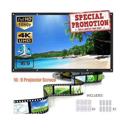 Projection Screens 120 Inch 16:9 HD Portable Display Movie DJ Foldable Projector