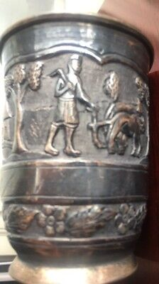 Antique Rare Old 925 Sterling Silver Julep Cup 1800s Country Estate 190+ Grams