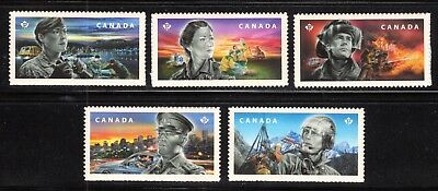 2018 Canada SC# Emergency Responders,Firefighters-Five Booklet Stamps M-NH