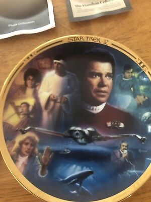 """Hamilton Collector's Plate """"Star Trek IV The Voyage Home"""""""
