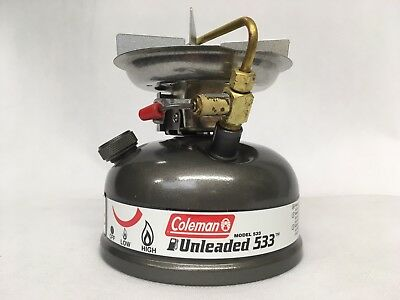 Coleman Unleaded Model 533-700E Sportster Stove w/Carry Case Grey. NEW IN BOX.