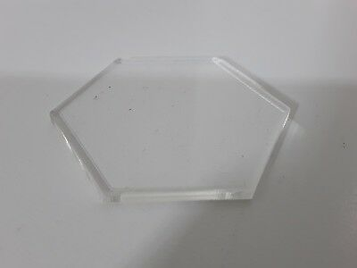 Sample of Laser Cut Clear Acrylic Hexagon Shape Various Sizes Choose Size