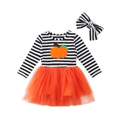 S-072 Girl's 2PC Fall  Dress Long Sleeve Striped Tulle Dress (Free Shipping)