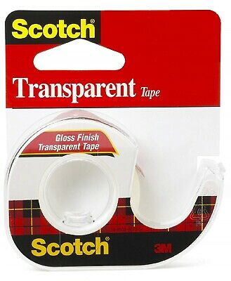 Scotch 600 Transparent Tape with Dispenser, 0.50 x 450 Inches, Glossy