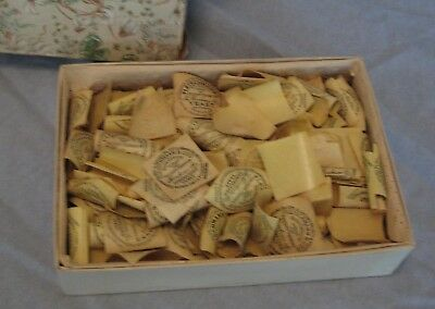 Small Box Full of Old Fleischmann's Yeast Tags or Stickers Hundreds of Them