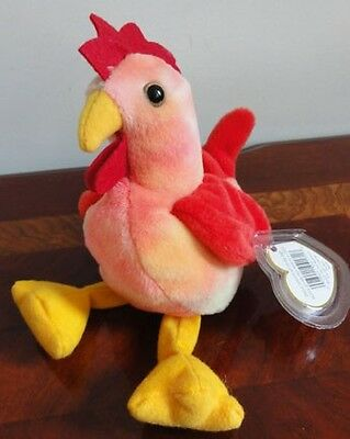 TY BEANIE BABIES BABY DOODLE the ROOSTER MWMT DOB 3-8-96 STYLE 4171 PVC