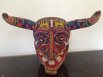 Vintage Huichol Indian Beaded Devil