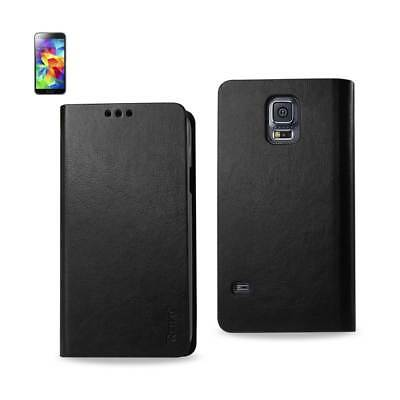 Reiko Samsung Galaxy S5 Flip Folio Case With Card Holder In Black