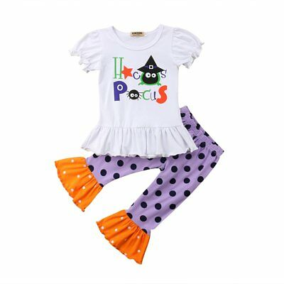S-178 Girl's 2PC Halloween Hocus Pocus Outfit Sizes 12M-4T (Free Shipping)