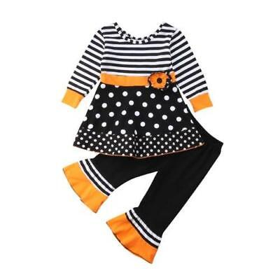 S-180 2PC Black, Orange & White Outfit (Ready to Ship from Ohio)(Free Shipping)