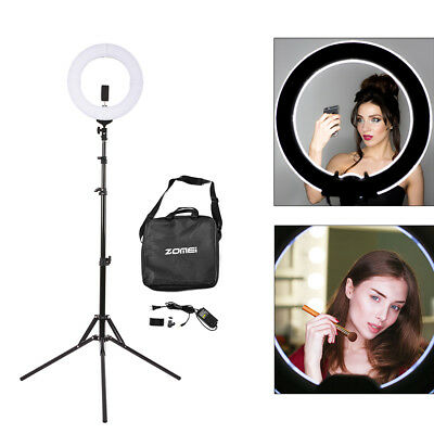 LED Photography Ring Light Dimmable 5500K Lighting Photo Video Stand OG008