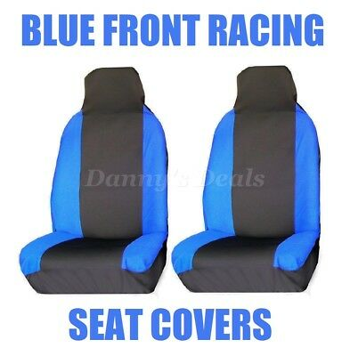 Front Blue Race Car Seat Covers Single Pair Set For Nissan Qashqai 2007 - 2013