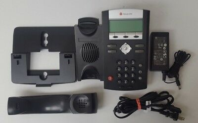 Used Polycom Soundpoint IP 335 Black Desktop Office Business Phone