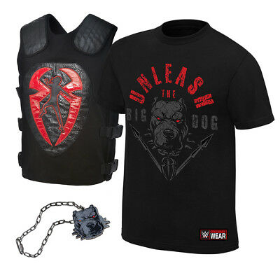 """Official WWE Authentic Roman Reigns """"Unleash the Big Dog"""" T-Shirt Package Black"""