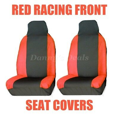 Front Red Race Car Seat Covers Single Pair Set For Nissan Qashqai 2007 - 2013