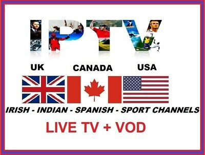 12 Months UK / USA / CANADA IPTV + VOD  For MAG / Android /Smart TV /Firestick