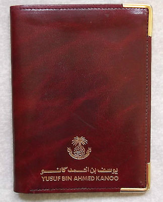 Wallet Vintage Leather BIFOLD ID CARD SAUDI ARABIA 1980'S YUSUF BIN AHMED KANOO