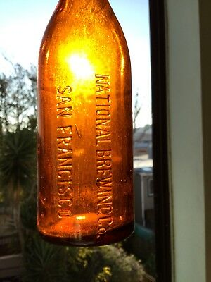 Antique National Brewing Co. Beer Bottle San Francisco California Pint