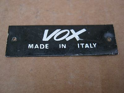 60's VOX GUITAR CASE BADGE