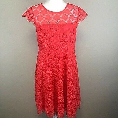 Kash And Jess Womens Dress C Size L Fit Flare Lace Knee Length
