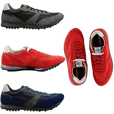 Diesel Men s NEW Choplow Fashion Sneaker Red Blue Low Top Casual Comfort  Shoes 5d3eb24e420