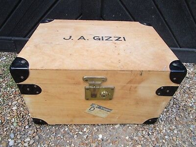 Vintage wooden Boarding School Tuck Box / Travel Trunk / Wooden  Chest