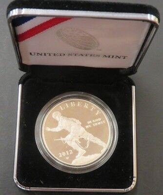 2012-W Silver Dollar Infantry Soldier Commem. Proof United States Mint #219
