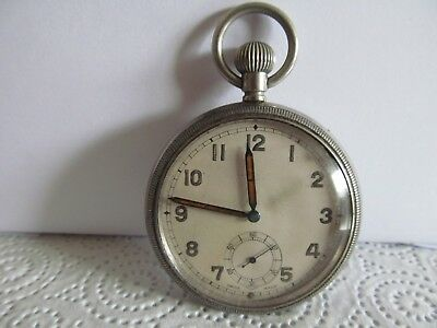 vintage Swiss made military pocket watch fair condition not working