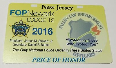 2 NJ POLICE FOP CARD Not Pba 2016 (with free gifts (read description) new jersey
