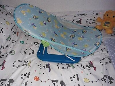 Baby newborn Bath Seat summer infant blue adjustable bathing chair support