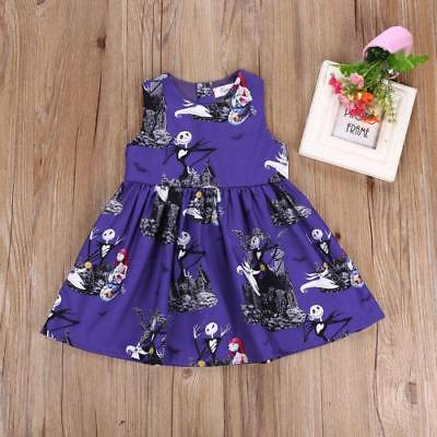 S-412 Toddler Halloween Dark Purple Skelton Dress Sizes 2T-6T (Free Shipping)