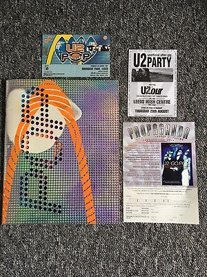 u2 popmart Tour Program And Ticket Stub